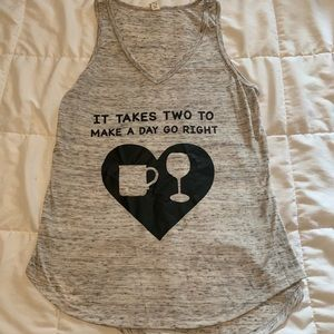 Tops - It takes two (coffee & wine) tank top